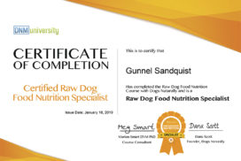 Certified Raw Dog Food Nutrition Specialist